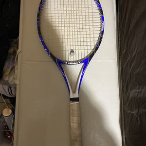Blue And White Tennis Head Racket With Wilson Handle for Sale in Massapequa, NY