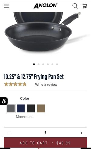 "10"" and 12"" anolon 2pc frying pan set for Sale in Chicago, IL"