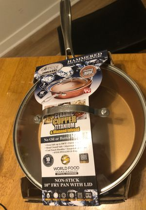 """Fry pan 10"""" with lid for Sale in Silverdale, WA"""