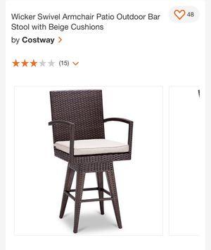 Wicker swivel patio bar stool for Sale in Fresno, CA