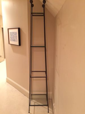 Large wrought iron stand/display with 4 glass shelves for Sale in Atlanta, GA