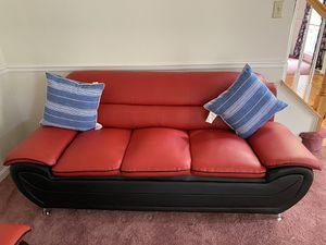 Red comfortable couches, in very good condition for Sale in Bowie, MD
