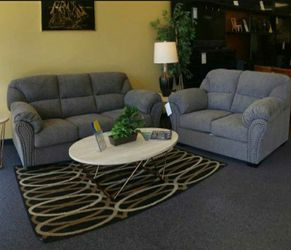 Allmaxx Pewter Living Room Set 🔆 Sofa and Loveseat for Sale in Round Rock,  TX