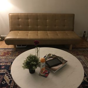 Brand New Faux Leather Futon Couch for Sale in Washington, DC