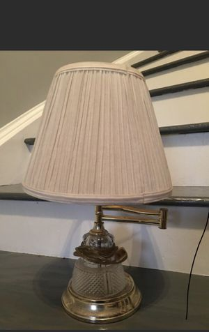 Vintage Brass Swing Arm Piano Lamp with Fabric Shade for Sale in Fairfax, VA