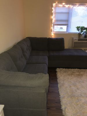Grey sleeper sectional sofa for Sale in Yardley, PA