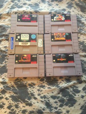 Super Nintendo snes games for sale for Sale in Phoenix, AZ