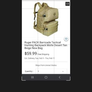 RUGER TACTICAL BACKPACK for Sale in Garden Grove, CA