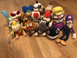 Mario collection plushies!! for Sale in Piscataway, NJ
