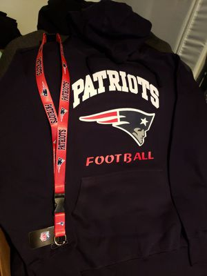 New England Patriots hoodie size large with landyard for Sale in Fort Worth, TX