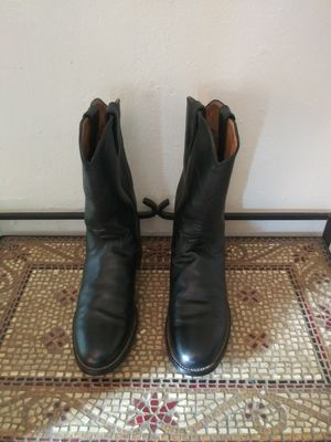 """Justin """"Jackson"""" Black Leather Roper Boots for Sale in Houston, TX"""