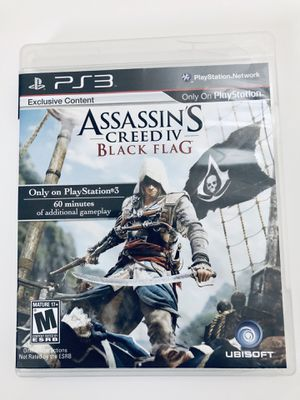PS3 Video Game Assassins Creed IV Black Flag for Sale in Fuquay-Varina, NC