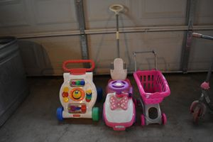 Toddler girl stuff-toys, boots, night time size 4 diapers for Sale in Mossyrock, WA