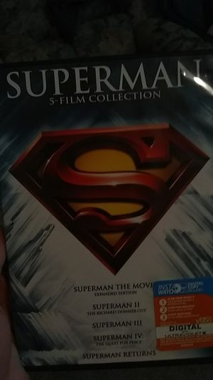 The old Superman Christopher Reeve and Gene Hackman, 5 film collection for Sale in Lodi, CA