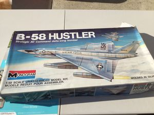 Monogram B-58 Hustler Bomber kit 1/48 scale for Sale, used for sale  Downey, CA