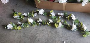 All kinds of fake floral, a bunch of Garland and flower pots for Sale in Orlando, FL