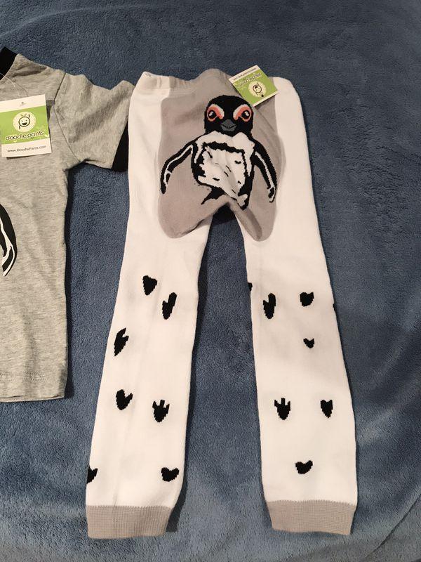 Brand NEW DOODLEPANTS Penguin w/ Shirt Size 2-3T