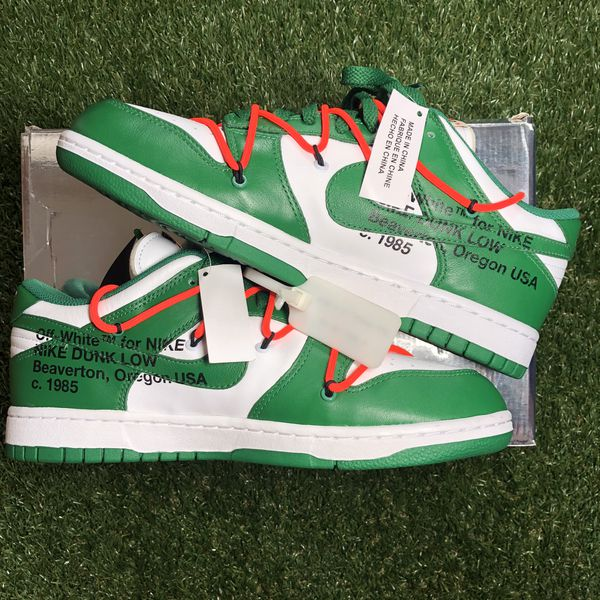 Nike X Off-White Dunk Low Pine Green Size 8.5