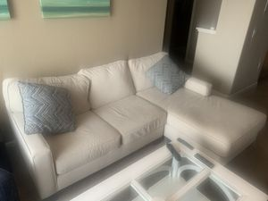 Moving. Must sell. Two-piece sectional couch. Off white for Sale in El Dorado Hills, CA