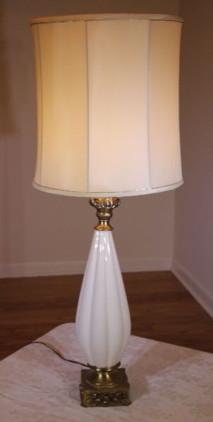 Vintage Lamp with Brass/Ceramic Base for Sale in Grosse Pointe Farms, MI