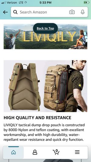 LIVIQILY Tactical Molle Pouch Backpack EDC Utility Pouch Bags for Hunting Accessories for Sale in Redlands, CA