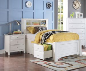 Mallowsea Bookcase Storage Bed Full Size White for Sale in Davenport, FL