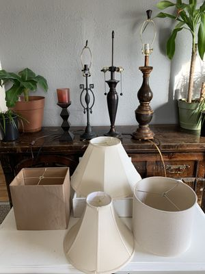 Lamps & Lamp Shades - Mix & Match for Sale in Tooele, UT