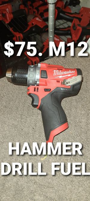 Milwaukee hammer drill fuel for Sale in Fontana, CA