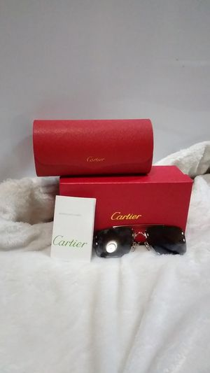 Cartier Rimless Sunglasses, Silver and Blue Lens. for Sale in Houston, TX