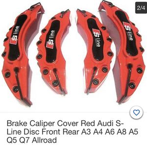 Brake caliper covers for all Audi's $60 a set for Sale in Long Beach, CA