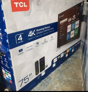 "75"" TCL roku Smart 4k led HDR 2160p Tv for Sale in Norwalk, CA"