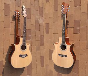 12 /6 string acoustic electric double neck Busuyi Guitar for Sale in Wuhu Shi, CN