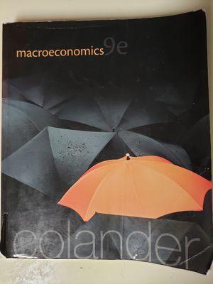 Macroeconomics Colander 9th Edition for Sale in Sacramento, CA