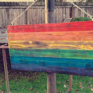 Handcrafted Wooden Rainbow Flag for Sale in Vancouver, WA