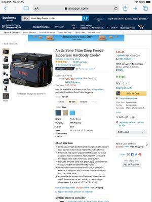 Titan deep freeze hard body freeze cooler. for Sale in Everett, WA