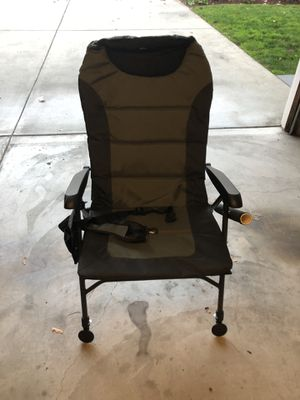 Fishing Fold-up Chair with Rod Holder and Carry Strap for Sale in Palo Alto, CA