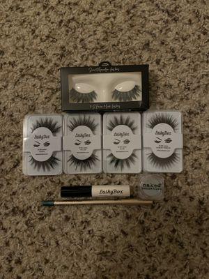 Lashes, eyeliner, eyeshadow, glue for Sale in Grand Terrace, CA