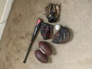 Baseball&Football gear for Sale in Greensboro, NC