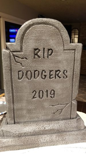 Dodgers Halloween tombstone prop for Sale in Upland, CA