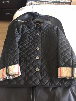 BURBERRY Brit Black Quilted Polyester Button Down Jacket for Sale in Union City, CA