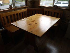 Oak kitchen nook set for Sale in Everett, WA