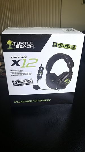 Turtle beach earforce X12 gaming headset for Xbox 360 and PC Gaming for Sale in Pembroke Pines, FL
