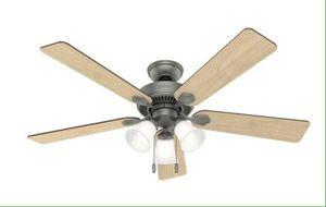 Swanson Ceiling Fan with LED Bowl Indoor Ventilador Abanico de Techo con Lampara 52 in Hunter 50894 for Sale in Hialeah, FL