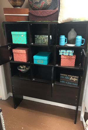 Cubbie cabinet brown shelf for Sale in Spring Hill, FL