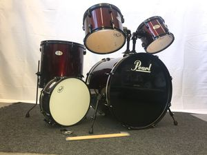 """Pearl Soundcheck 5-Piece Drum Set Red Wine w/Black Hardware 22/10/12/16/14"""" for Sale in San Francisco, CA"""