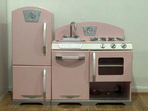 KidKraft pink wooden kitchen with supplies for Sale in Fairfax, VA