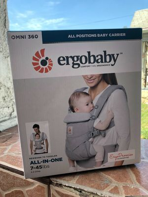 New Ergobaby Omni 360 All Carry Positions Ergonomic Baby Carrier - Pearl Gray for Sale in Austin, TX
