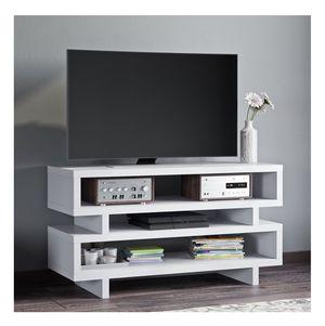 White TV Stand Book Shelf Modern Home Decor Living Room Storage Organization Open Design for Sale in Fuquay Varina, NC