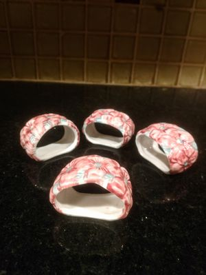 Vintage Ceramic Napkin Rings for Sale in Pleasant Hill, IA
