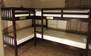 4 Twin Bed Bunk Bed New! With 4 Mattresses Included for Sale in Rialto, CA